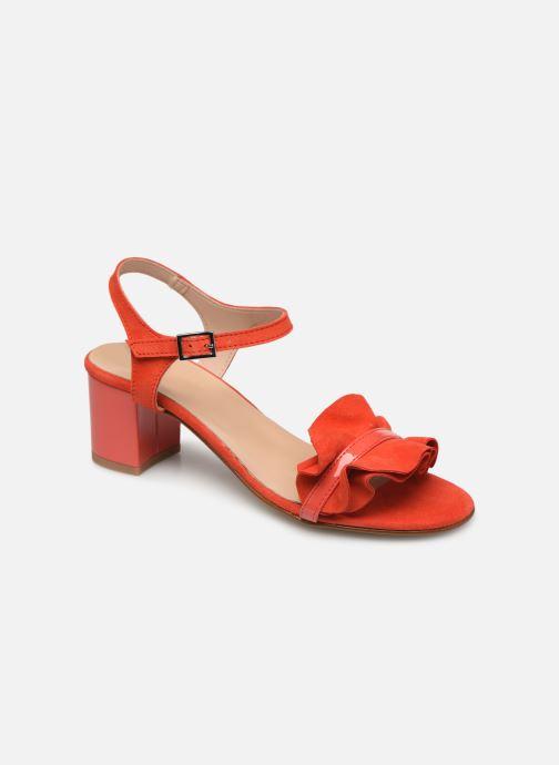 Sandales et nu-pieds Georgia Rose Luwagua Rouge vue détail/paire