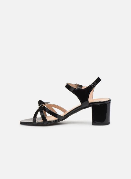 Sandales et nu-pieds Georgia Rose Linedia Noir vue face