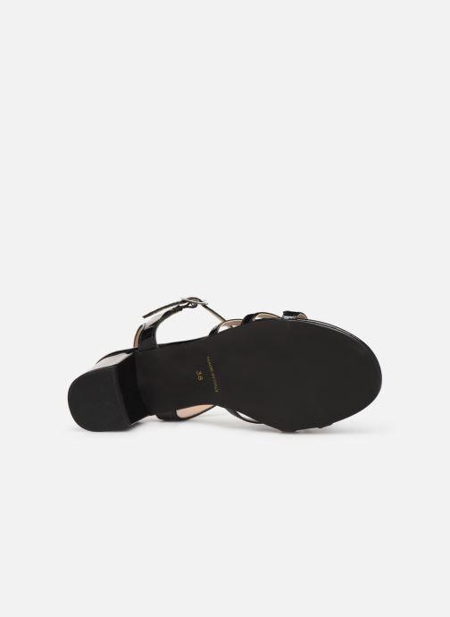 Sandales et nu-pieds Georgia Rose Linedia Noir vue haut