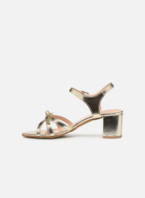 Sandales et nu-pieds Georgia Rose Linedia Or et bronze vue face