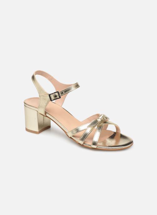 Sandales et nu-pieds Georgia Rose Linedia Or et bronze vue détail/paire