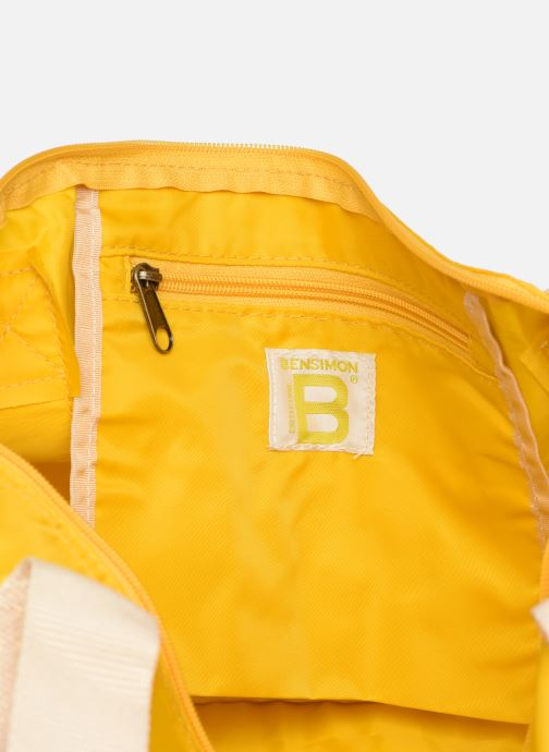 Sports bags Bensimon COLORBAG COLORLINE Yellow back view
