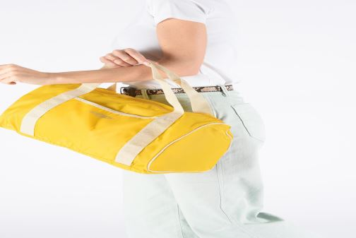 Sports bags Bensimon COLORBAG COLORLINE Yellow view from underneath / model view
