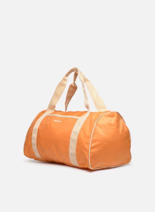 Borsa da palestra Bensimon COLORBAG COLORLINE Arancione modello indossato
