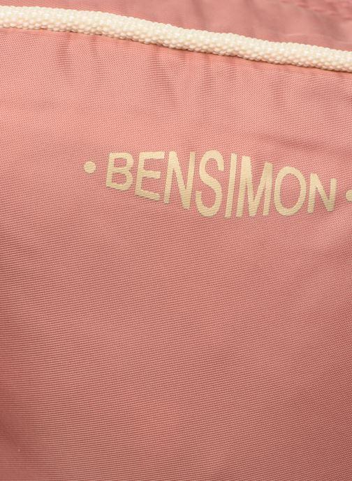 Bolsos de mano Bensimon SMALL BESACE COLOR LINE Rosa vista lateral izquierda