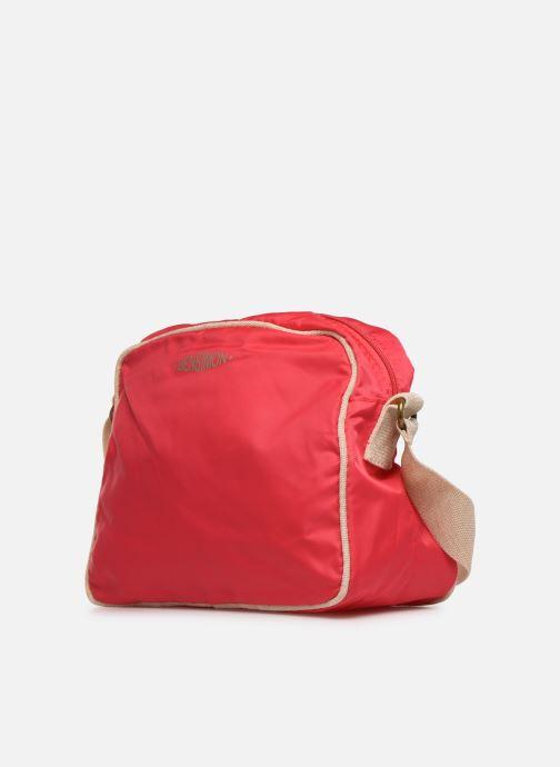 Borse Bensimon SMALL BESACE COLOR LINE Rosa modello indossato