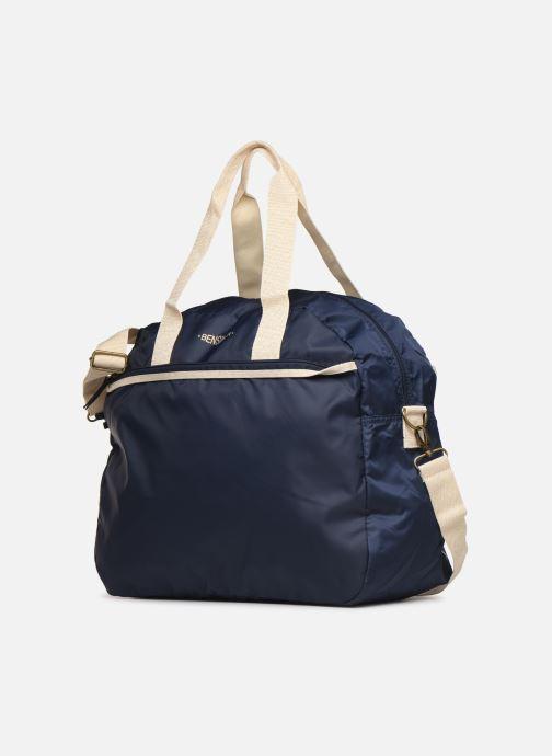 Sporttaschen Bensimon TOURBAG COLOR LINE blau schuhe getragen