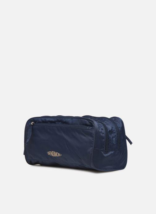 Bagages Bensimon TOILETERY BAG TRAVEL LINE Bleu vue portées chaussures