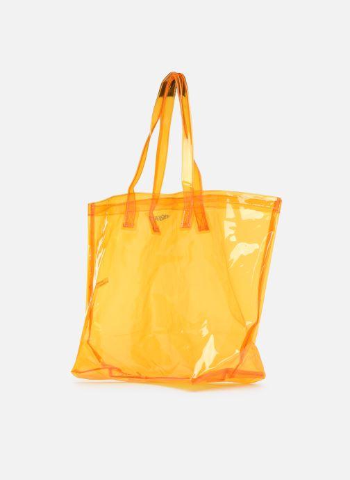 Sacs à main Bensimon TOTE SUMMER LINE Orange vue portées chaussures