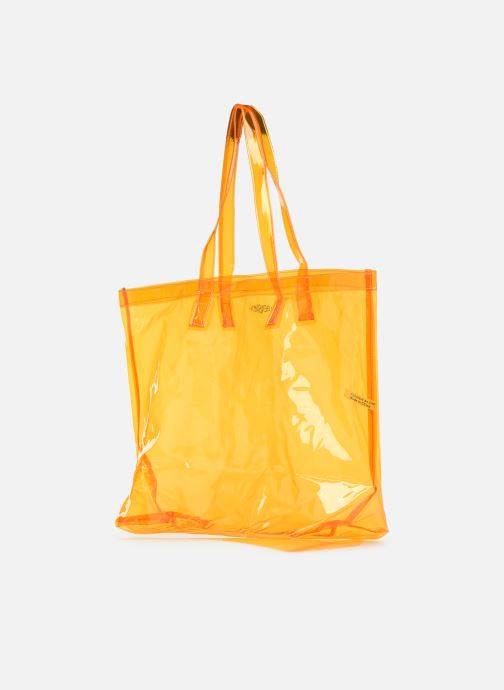 Handtaschen Bensimon TOTE SUMMER LINE orange ansicht von rechts