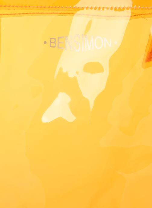 Sacs à main Bensimon TOTE SUMMER LINE Orange vue gauche