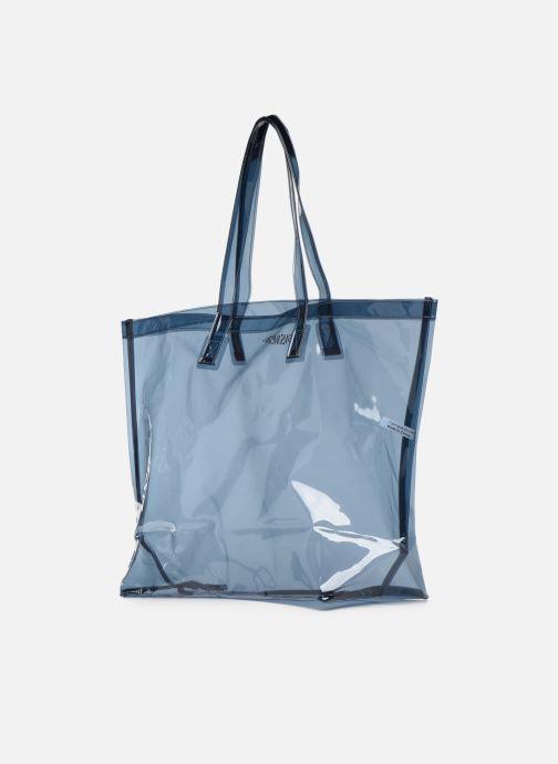 Handtaschen Bensimon TOTE SUMMER LINE grau ansicht von rechts