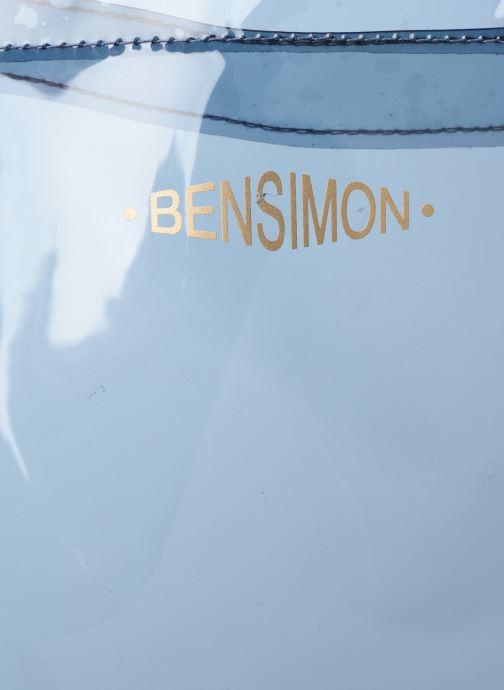Handtaschen Bensimon TOTE SUMMER LINE grau ansicht von links