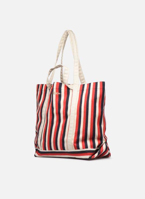 Handtaschen Bensimon TOTE RAYURES TRANSAT rot schuhe getragen