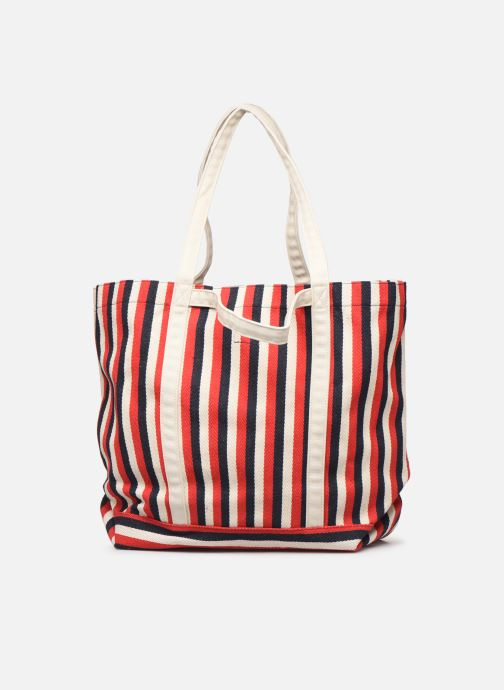 Handbags Bensimon TOTE RAYURES TRANSAT Red front view