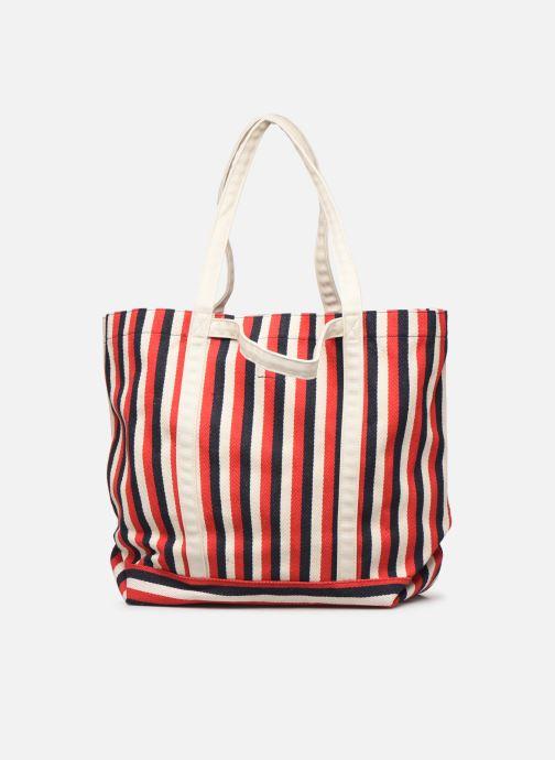 Handtaschen Bensimon TOTE RAYURES TRANSAT rot ansicht von vorne