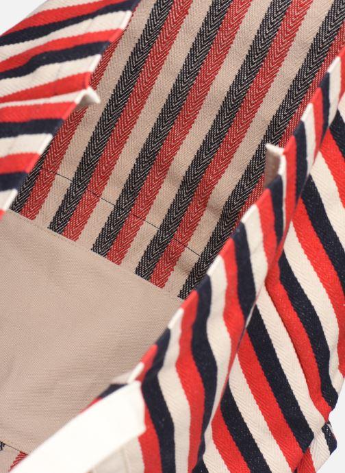 Handbags Bensimon TOTE RAYURES TRANSAT Red back view