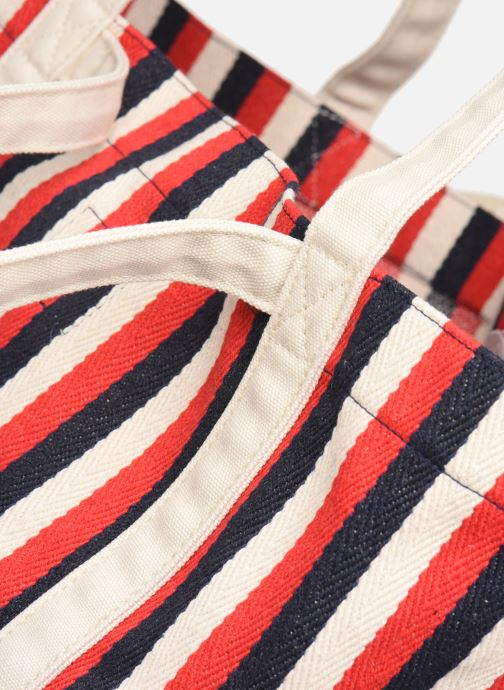 Handbags Bensimon TOTE RAYURES TRANSAT Red view from the left