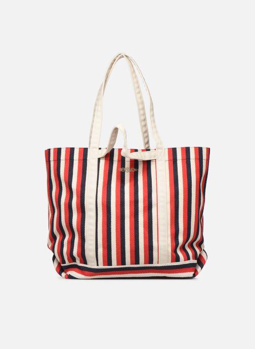 Handbags Bensimon TOTE RAYURES TRANSAT Red detailed view/ Pair view