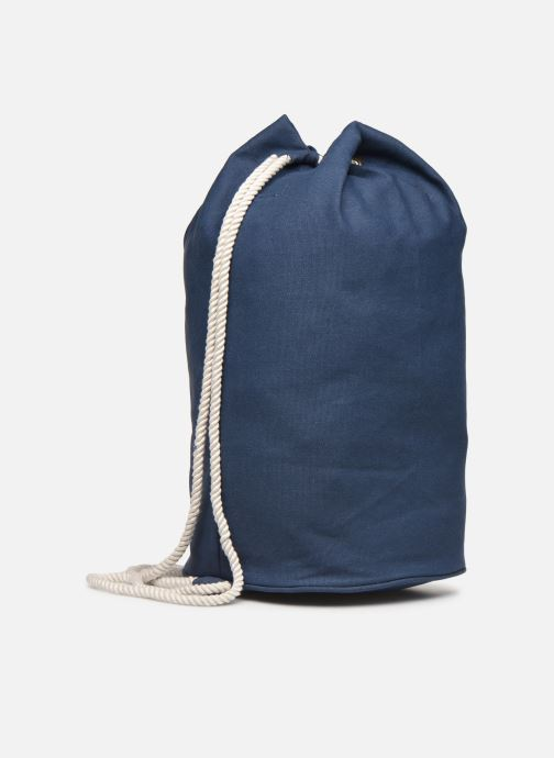 Rucksacks Bensimon SAILOR BAG CANVAS AUTHENTIQUE Blue view from the right