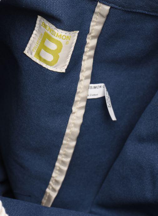 Rucksäcke Bensimon SAILOR BAG CANVAS AUTHENTIQUE blau ansicht von hinten