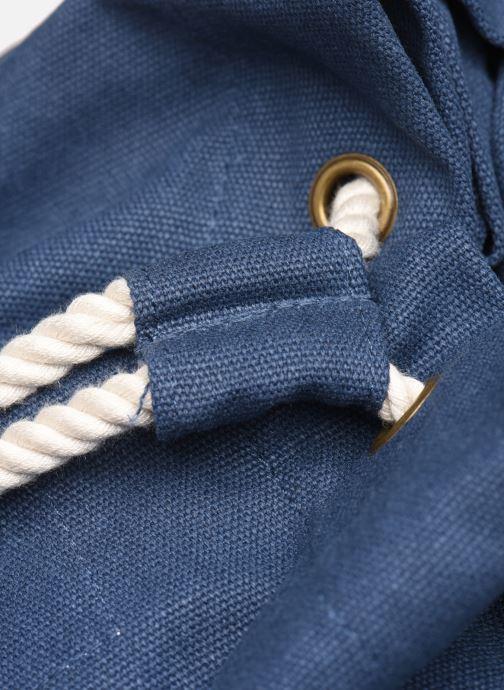 Rucksäcke Bensimon SAILOR BAG CANVAS AUTHENTIQUE blau ansicht von links