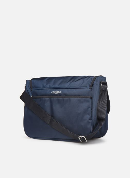 Men's bags Bensimon BESACE WORKING LINE Blue view from the right