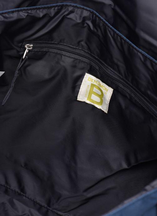 Herrentaschen Bensimon BESACE WORKING LINE blau ansicht von hinten