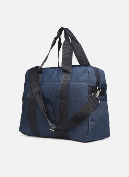 Sports bags Bensimon WEEKEND BAG WORKING LINE Blue view from the right