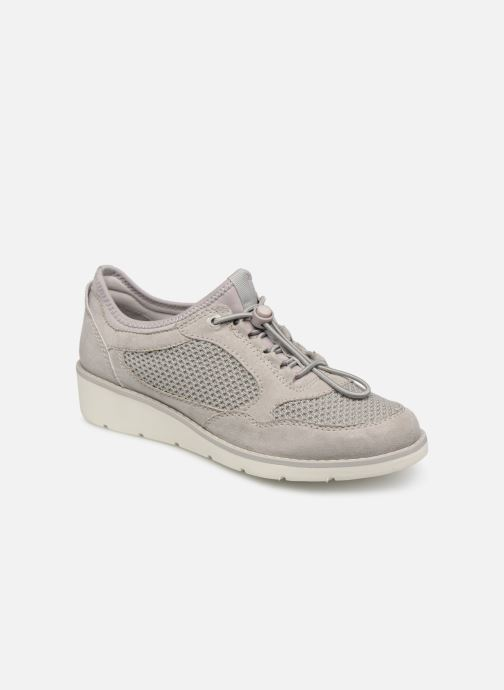 Trainers Jana shoes FLORA Grey detailed view/ Pair view