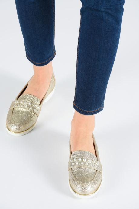 Mocassins Jana shoes CHIN Or et bronze vue bas / vue portée sac