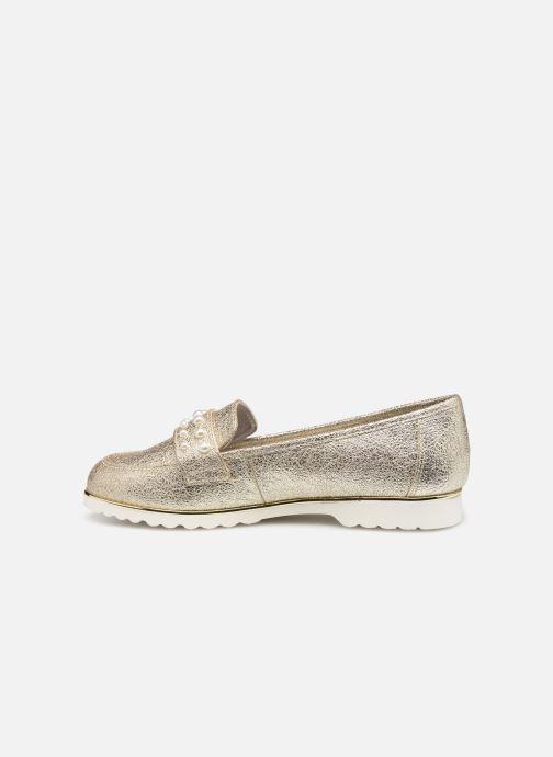Mocassins Jana shoes CHIN Or et bronze vue face