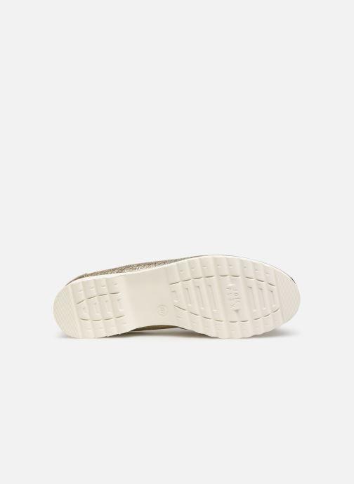Mocassins Jana shoes CHIN Or et bronze vue haut