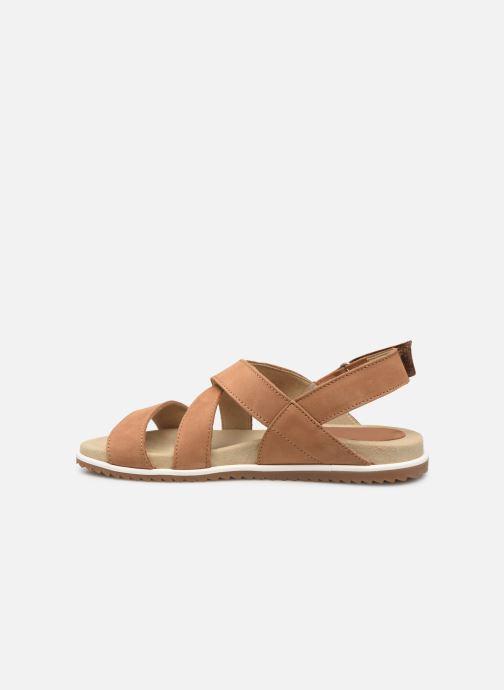 Sandales et nu-pieds Aigle Cayali Beige vue face