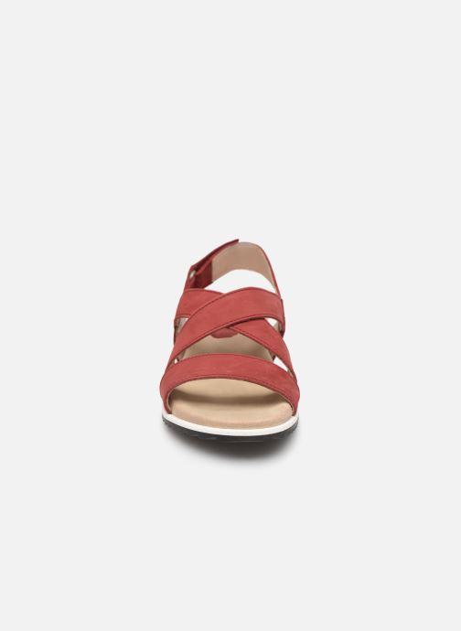 Sandales et nu-pieds Aigle Cayali Rouge vue portées chaussures