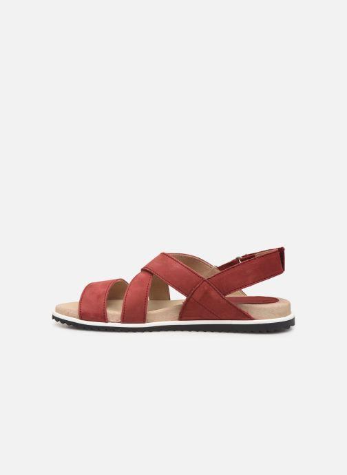 Sandales et nu-pieds Aigle Cayali Rouge vue face