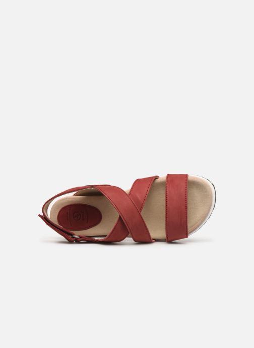 Sandales et nu-pieds Aigle Cayali Rouge vue gauche