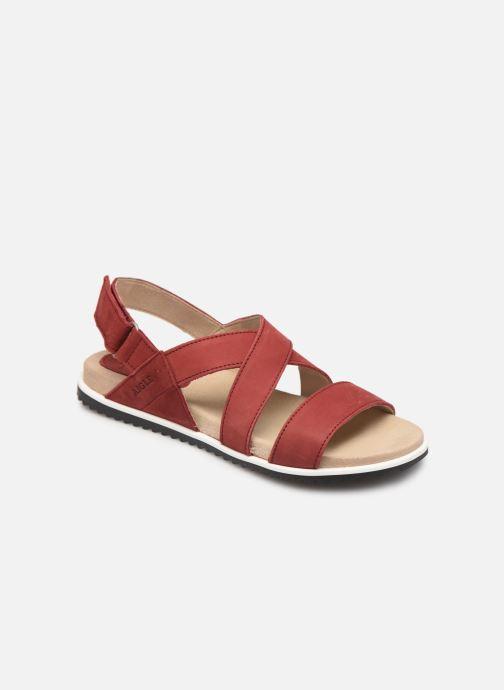 Sandales et nu-pieds Aigle Cayali Rouge vue détail/paire