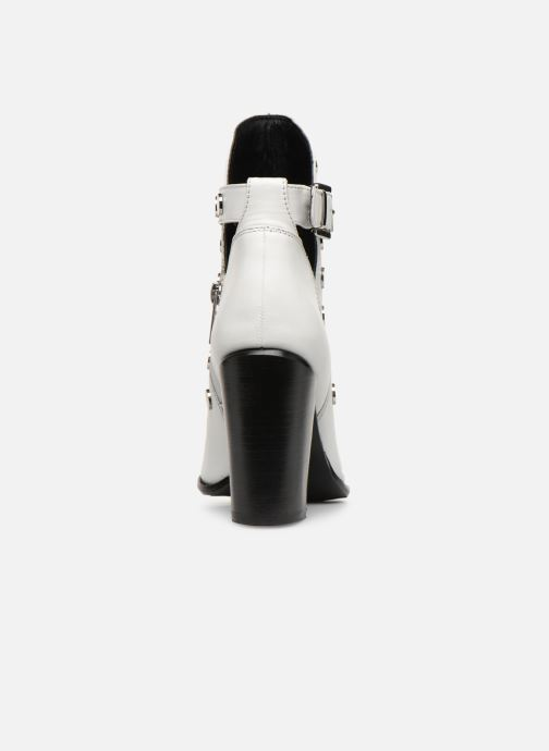 Ankle boots Bronx 33998 White view from the right