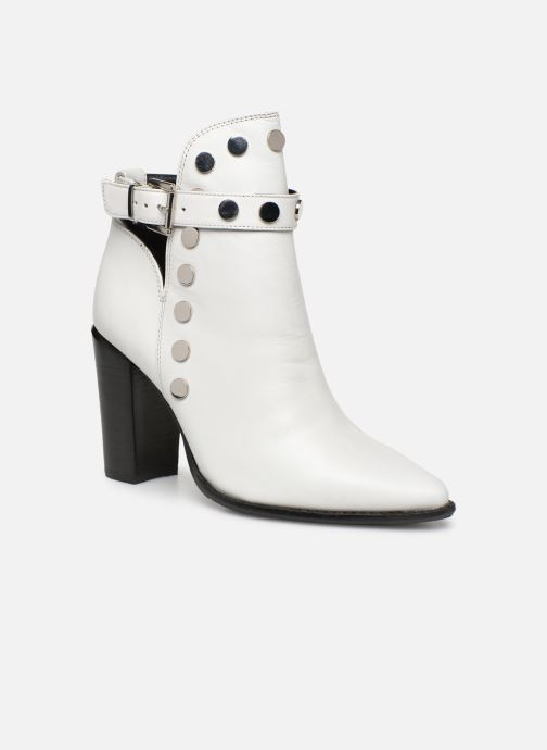 Ankle boots Bronx 33998 White detailed view/ Pair view