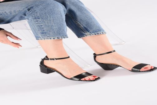 Sandals Bronx 84788 Black view from underneath / model view