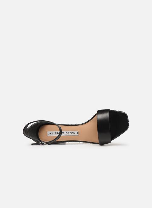 Sandales et nu-pieds Bronx 84788 Noir vue gauche