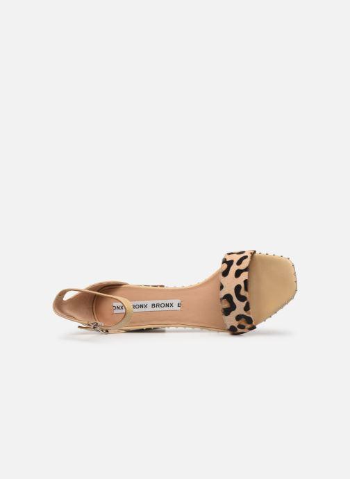 Sandales et nu-pieds Bronx 84788 Beige vue gauche