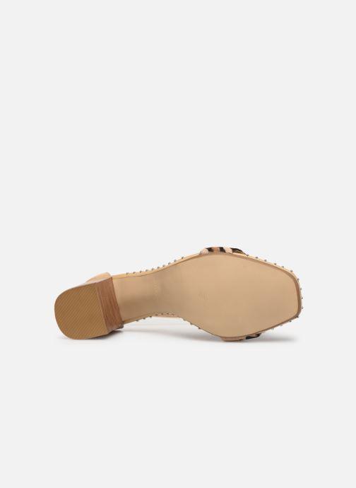 Sandales et nu-pieds Bronx 84788 Beige vue haut