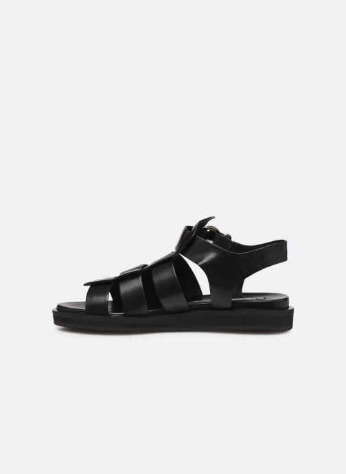 Sandales et nu-pieds Bronx 84810 Noir vue face