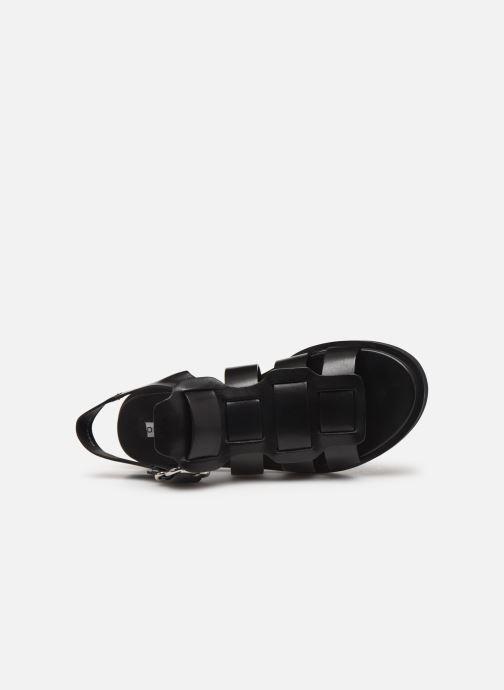 Sandales et nu-pieds Bronx 84810 Noir vue gauche