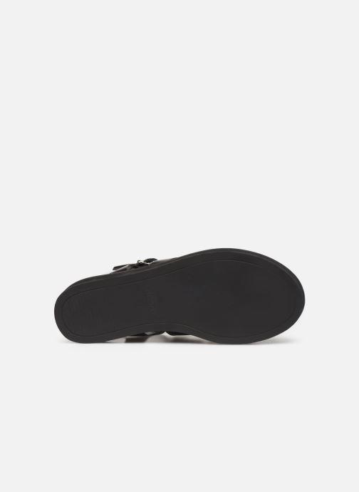 Sandales et nu-pieds Bronx 84810 Noir vue haut