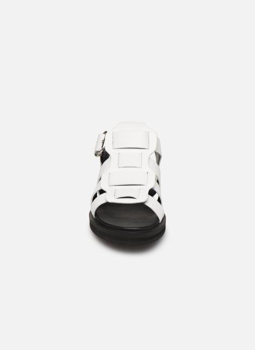 Sandales et nu-pieds Bronx 84810 Blanc vue portées chaussures