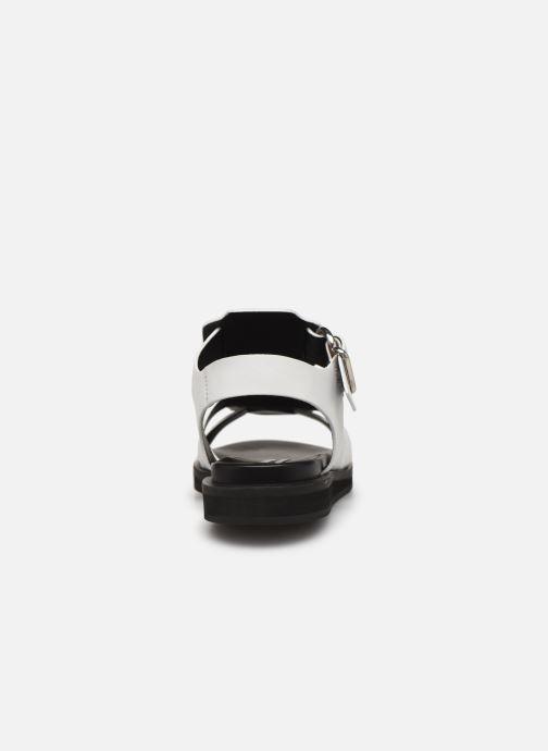 Sandales et nu-pieds Bronx 84810 Blanc vue droite
