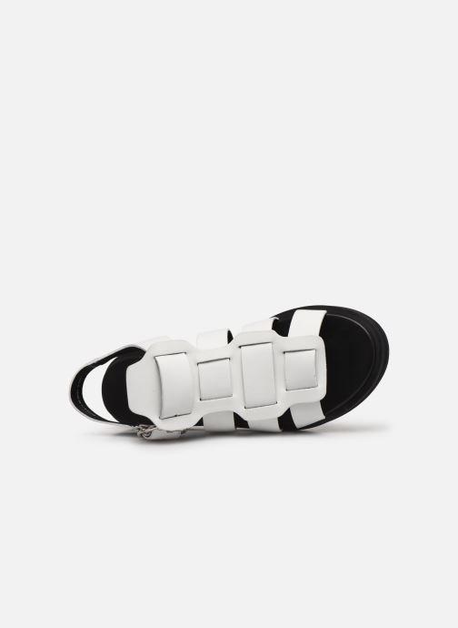 Sandales et nu-pieds Bronx 84810 Blanc vue gauche